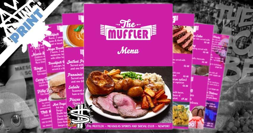 The Muffler Food and Desert Menu banner image