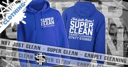 Super Clean Carpet Cleaning Work Wear Portfolio Article Image