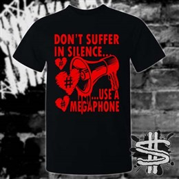 Spizzle Dizzle TikTok Plastic Reality Megaphone T-Shirt Clothing