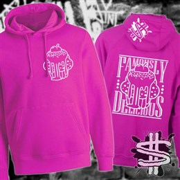 Spizzle Dizzle Famously Delicious Gooey Cupcake Hoodie Clothing